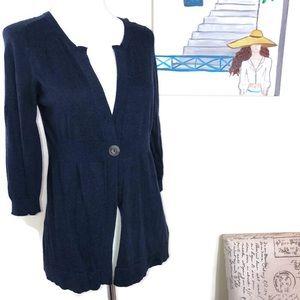 Vince. Navy Blue Cardigan Size Medium